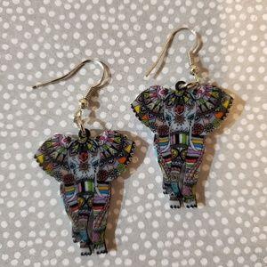 Acrylic Elephant Earrings